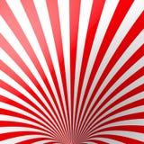 Fond rayé volumétrique rouge Cône Papier peint rouge et blanc de spirale de perspective entonnoir Non équilibré, bords dessous Photos stock