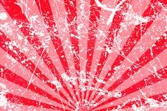 Fond rayé rouge sale Photographie stock libre de droits