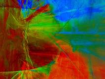 Fond rectangulaire abstrait avec le modèle de fractale dans des couleurs vives saturées Photographie stock