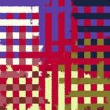 Fond rectangulaire chaotique coloré abstrait de modèle de casse-tête de peinture de Digital beau Photo libre de droits