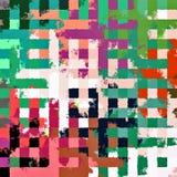 Fond rectangulaire chaotique coloré abstrait de modèle de casse-tête de peinture de Digital beau Photographie stock