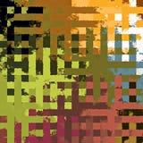 Fond rectangulaire chaotique coloré abstrait de modèle de casse-tête de peinture de Digital beau Images stock