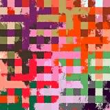 Fond rectangulaire chaotique coloré abstrait de modèle de casse-tête de peinture de Digital beau Image libre de droits