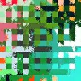Fond rectangulaire chaotique coloré abstrait de modèle de casse-tête de peinture de Digital beau Photographie stock libre de droits
