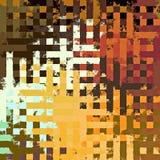 Fond rectangulaire chaotique coloré abstrait de modèle de casse-tête de peinture de Digital beau Photos libres de droits