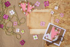 fond romantique Images stock