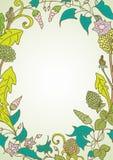 Fond romantique avec la guirlande de fleur sauvage Images stock