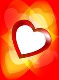 Fond romantique avec le coeur Photos stock