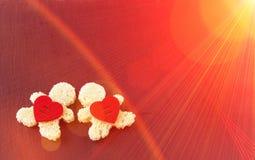 fond romantique Carte postale pour le jour du `s de Valentine Tour Eiffel, Photos libres de droits