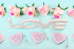 Fond romantique d'amour dans des couleurs en pastel Photographie stock