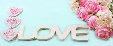 Fond romantique d'amour dans des couleurs en pastel Photographie stock libre de droits