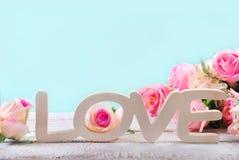 Fond romantique d'amour dans des couleurs en pastel Photo libre de droits