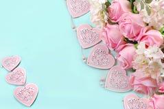 Fond romantique d'amour dans des couleurs en pastel Photo stock
