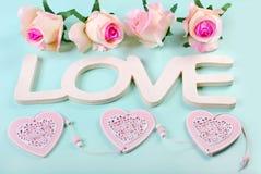 Fond romantique d'amour dans des couleurs en pastel Images libres de droits