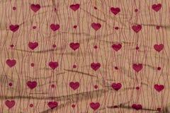 Fond romantique de coeur pour la conception de vacances Beaucoup vol entendent Photographie stock