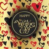 Fond romantique de Saint-Valentin de luxe Illustration Libre de Droits