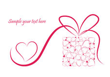 Fond romantique de valentine Photos stock