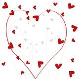 Fond romantique floral de griffonnage mignon Photographie stock libre de droits