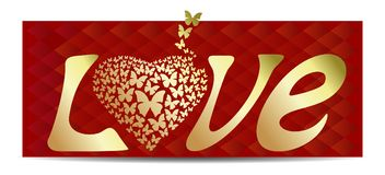 Fond romantique pour le jour de valentines Photographie stock libre de droits