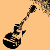 Fond rompu de musique de guitare Photos stock