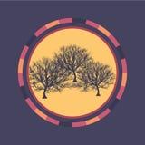 Fond rond coloré de technologie avec l'arbre Illustration digitale abstraite Concept de connexion Conception ronde électronique m Image libre de droits