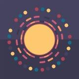Fond rond coloré de technologie Illustration digitale abstraite Concept de connexion Conception ronde électronique Abstracti mode Photographie stock libre de droits