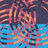 Fond rond coloré de technologie Illustration digitale abstraite Concept de connexion Conception ronde électronique Abstrait moder Images libres de droits