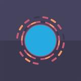 Fond rond coloré de technologie Illustration digitale abstraite Concept de connexion du vecteur ENV 10 Conception ronde électroni Photo stock