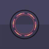 Fond rond coloré de technologie Illustration digitale abstraite Concept de connexion du vecteur ENV 10 Conception ronde électroni Photos libres de droits