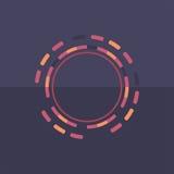 Fond rond coloré de technologie Illustration digitale abstraite Concept de connexion du vecteur ENV 10 Conception ronde électroni Photos stock