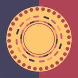 Fond rond coloré de technologie Illustration digitale abstraite Concept de connexion du vecteur ENV 10 Conception ronde électroni Photographie stock libre de droits