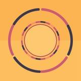Fond rond coloré de technologie Illustration digitale abstraite Concept de connexion du vecteur ENV 10 Conception ronde électroni Image stock