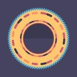 Fond rond coloré de technologie Illustration digitale abstraite Concept de connexion du vecteur ENV 10 Conception ronde électroni Photo libre de droits