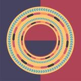 Fond rond coloré de technologie Illustration digitale abstraite Concept de connexion du vecteur ENV 10 Conception ronde électroni Images libres de droits