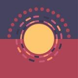 Fond rond coloré de technologie Illustration digitale abstraite Concept de connexion du vecteur ENV 10 Conception ronde électroni Image libre de droits