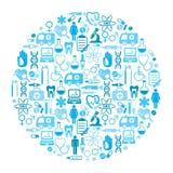 Fond rond médical de vecteur avec l'endroit pour le texte Photographie stock libre de droits