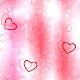 Fond rose abstrait avec des coeurs pour des amants illustration libre de droits