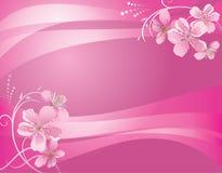 Fond rose abstrait avec la fleur illustration stock