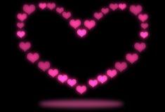 Fond rose abstrait de coeur Images stock
