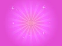 Fond rose avec des étoiles Photo libre de droits
