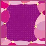 Fond rose avec des étoiles Images stock