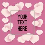 Fond rose avec des coeurs pour votre conception Photos libres de droits