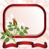 Fond rose avec des roses illustration stock