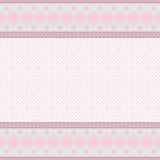 Fond rose avec la trame de lacet Photographie stock