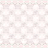 Fond rose avec le cadre de lacet Photos stock