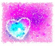 Fond rose avec le coeur illustration stock