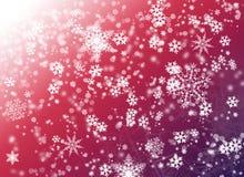 Fond rose avec le flocon de neige Images stock