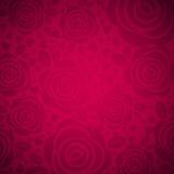 Fond rose avec rose et le coeur, vecteur illustration de vecteur