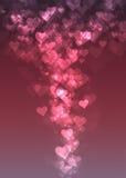Fond rose d'abrégé sur bokeh de coeur Photos libres de droits