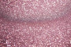 Fond rose d'or de bokeh de texture de scintillement de tache floue Photographie stock libre de droits